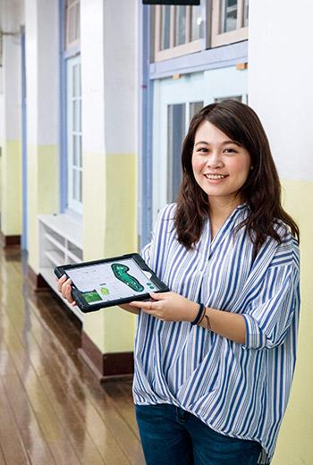 陳湘藍 29歲,台灣綠夾克運動事業公司外派福岡2年。認為海外工作連小細節的文化差異都要掌握,才有助拓展業務。(攝影者.陳宗怡)